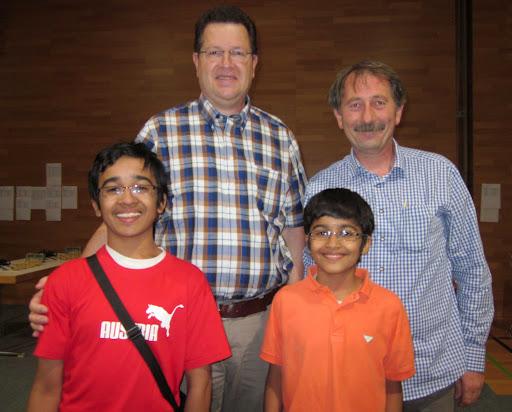 akshatchandra.com ~ Akshat Chandra and Aditya 'Addy' Chandra with organizers Norbert Fruhauf and Gerhard Spiesberger.  Well Done Norbert and Gerhard!