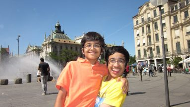 akshatchandra.com ~ Merrymaking in Munich! Akshat and Aditya.