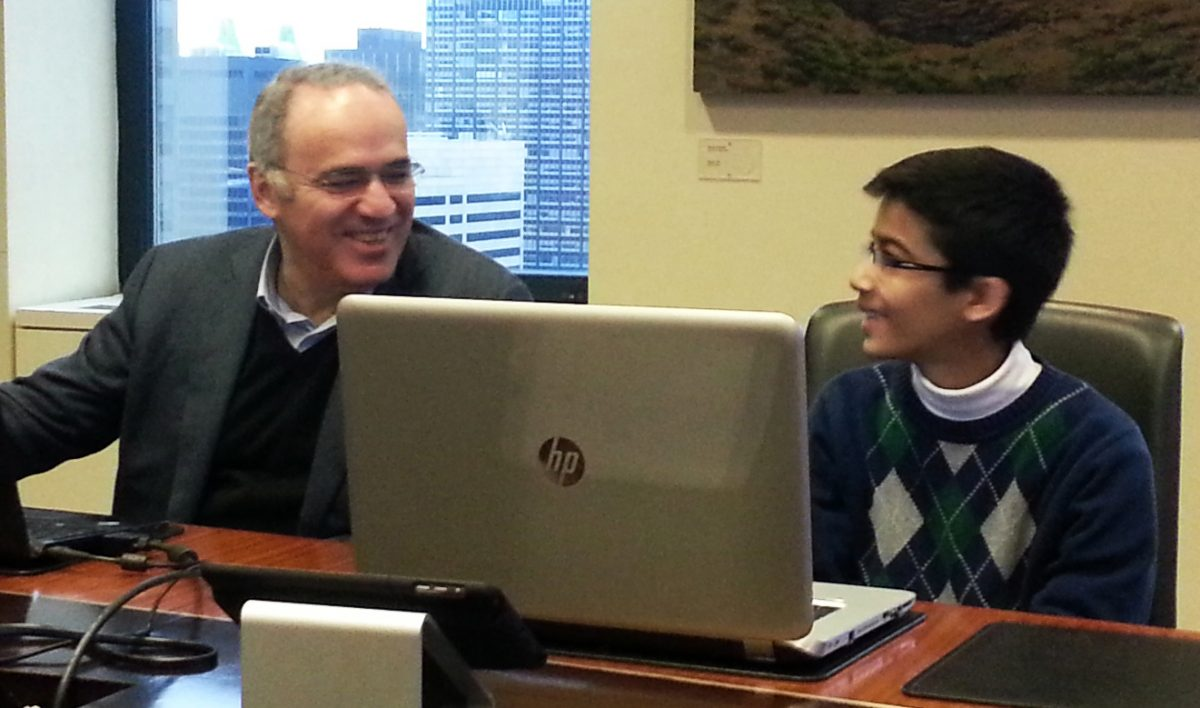 Garry Kasparov and Akshat Chandra
